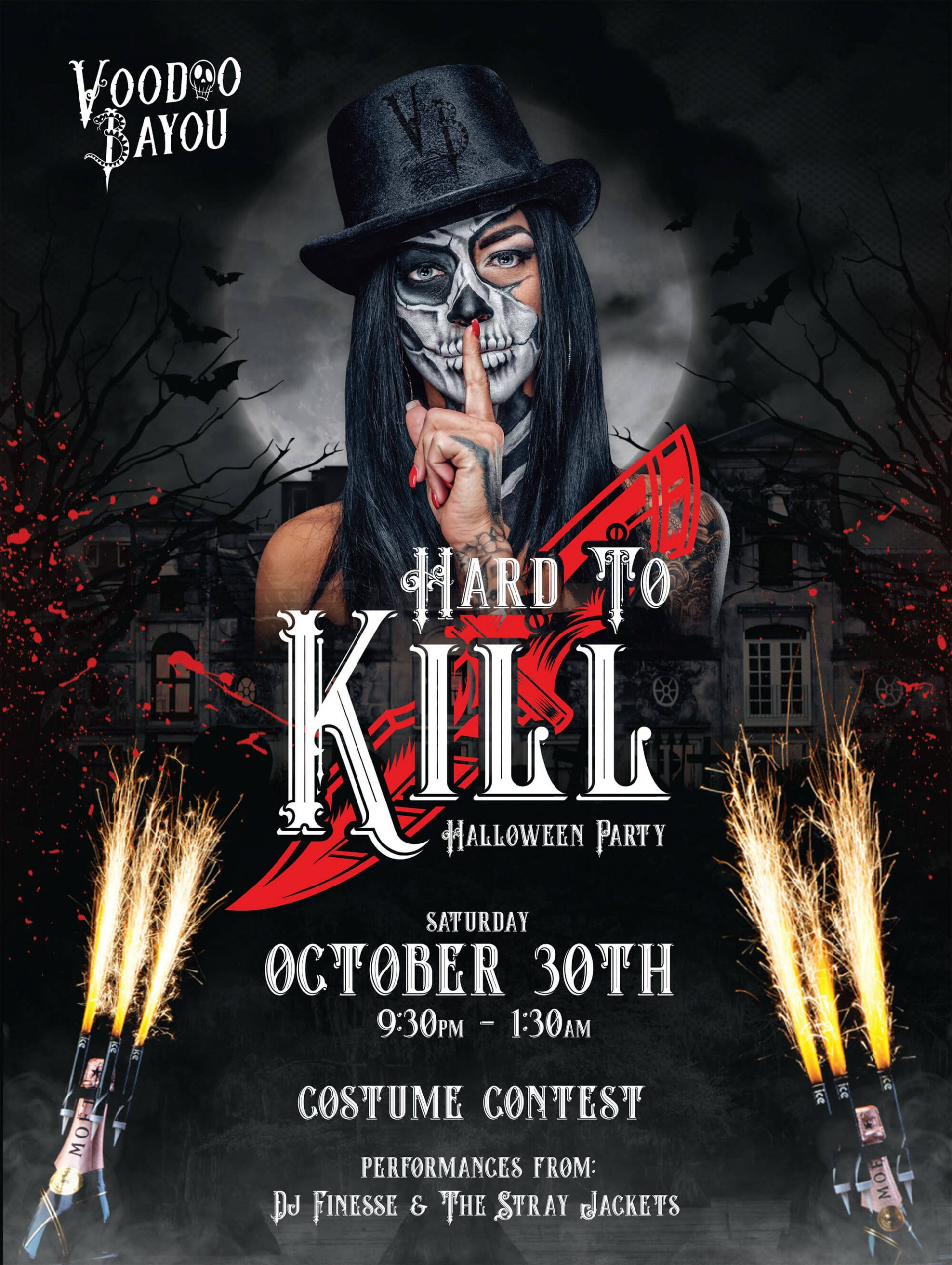 Halloween Party at Voodoo Bayou on October 30th